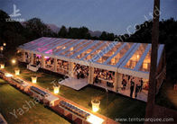 Clear Top Cover Outside Aluminum Luxury Wedding Tents Different Lightings
