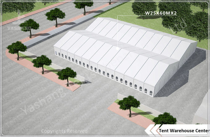 Large Span Aluminum Frame Industrial Storage Tents , Temporary Storage Tents
